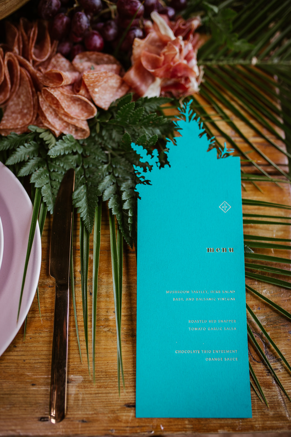 Laser Cut Bright Colourful Stationery Menu Arnos Vale Weddings Ideas When Charlie Met Hannah Photography