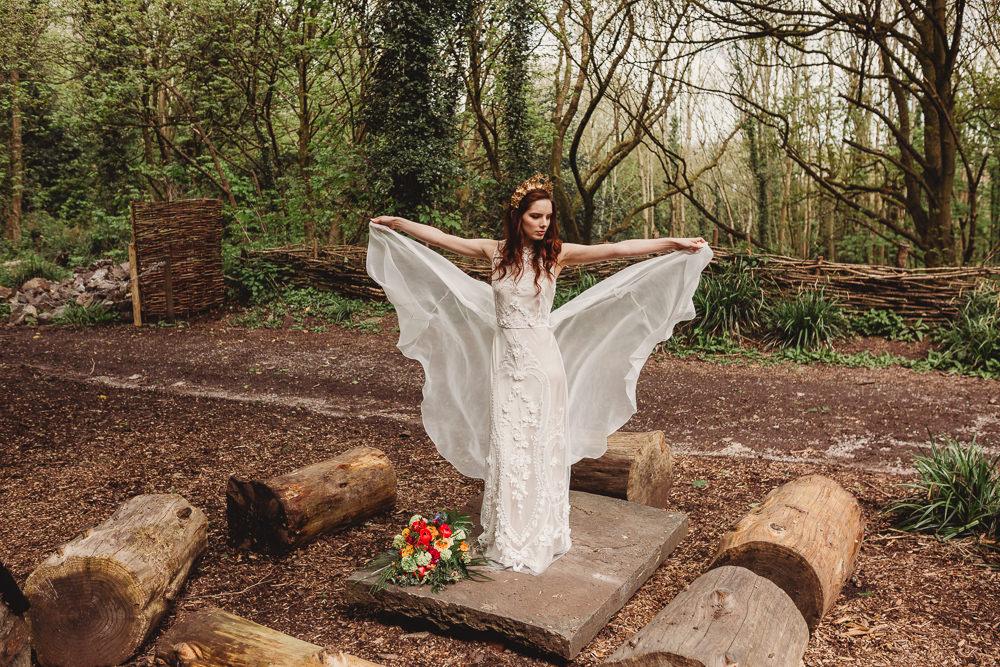 Dress Gown Bride Bridal Lace Silk Train Arnos Vale Weddings Ideas When Charlie Met Hannah Photography