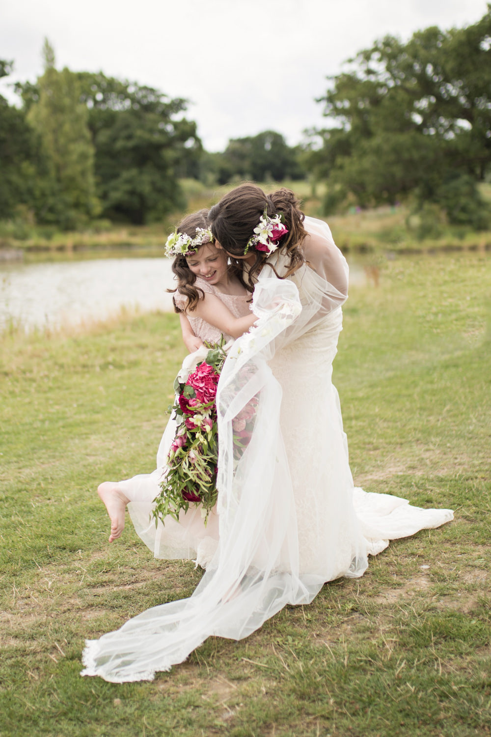 Flower Girl Bride House Meadow Wedding Kerry Ann Duffy Photography