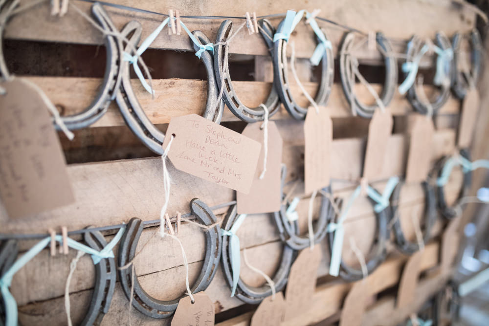 Horse Shoe Favours House Meadow Wedding Kerry Ann Duffy Photography