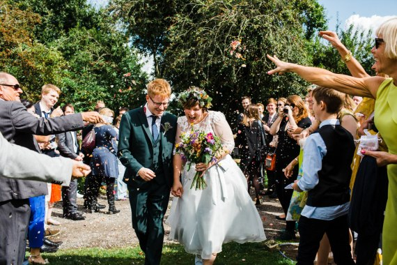 Secret Barn Sussex Wedding Rainbow Colourful Yvonne Lishman Photography