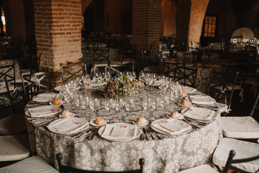 Outdoor Seville Destination Wedding Breakfast Patterned | Colorful and Heartfelt Wedding in Spain Boda&Films
