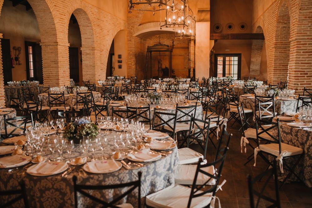 Outdoor Seville Destination Wedding Breakfast Villa Hacienda | Colorful and Heartfelt Wedding in Spain Boda&Films
