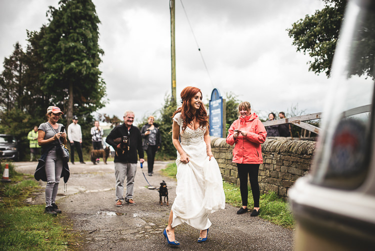Anna Campbell Dress Gown Bride Bridal Coco Brocade Tipi Garden Wedding Wedding Foxley Photography
