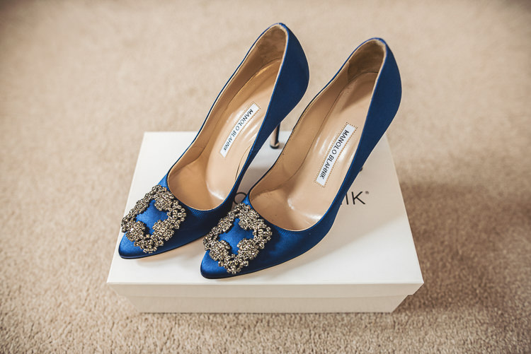 Manolo Blahnik Shoes Blue Bride Bridal Tipi Garden Wedding Wedding Foxley Photography