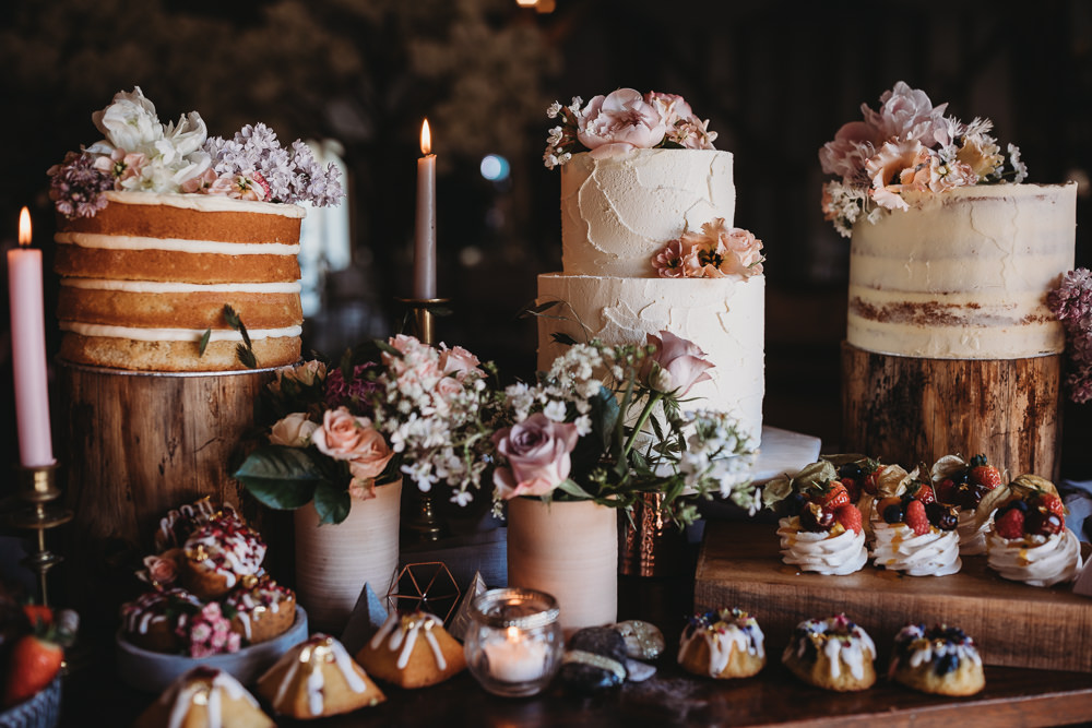 Cake Dessert Table Treats Rustic Pretty Barn Wedding Ideas Thyme Lane Photography
