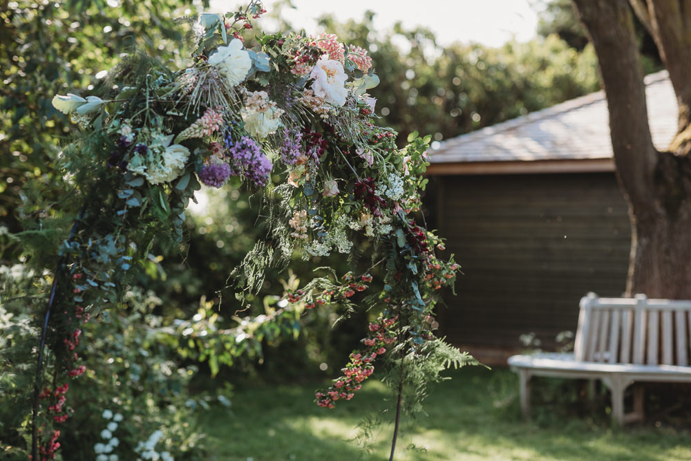 Moon Gate Backdrop Flowers Circle Arch Barn Wedding Ideas Thyme Lane Photography