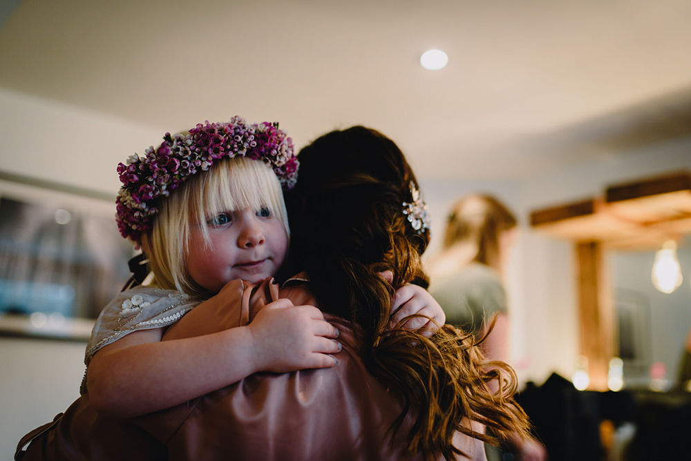 Flower Crown Bridesmaid Flower Girl Industrial Winter Wedding Reality Photography