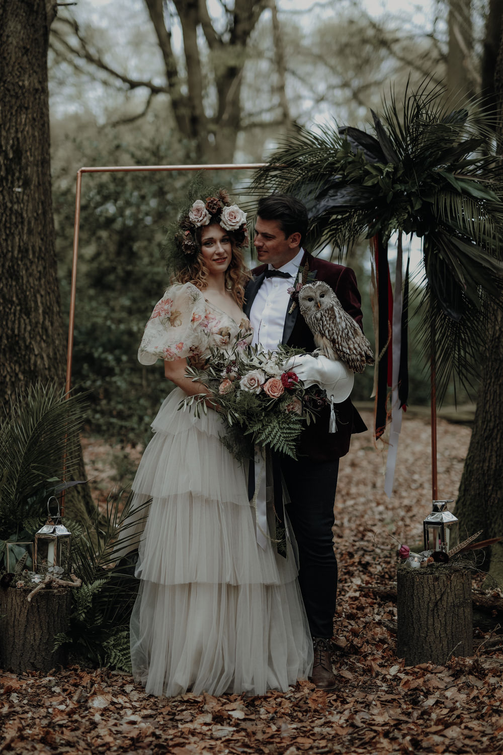 Modern Gothic Wedding Ideas in the Woods