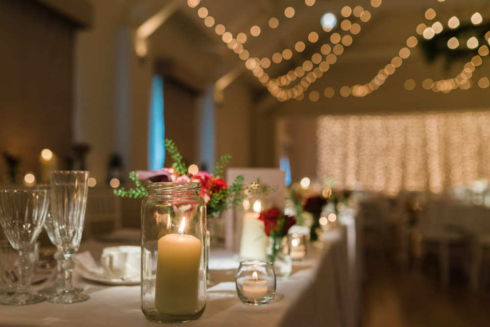 Candles in Jars Bud Vases Flowers Floral Stoke Place Wedding Hannah McClune Photography