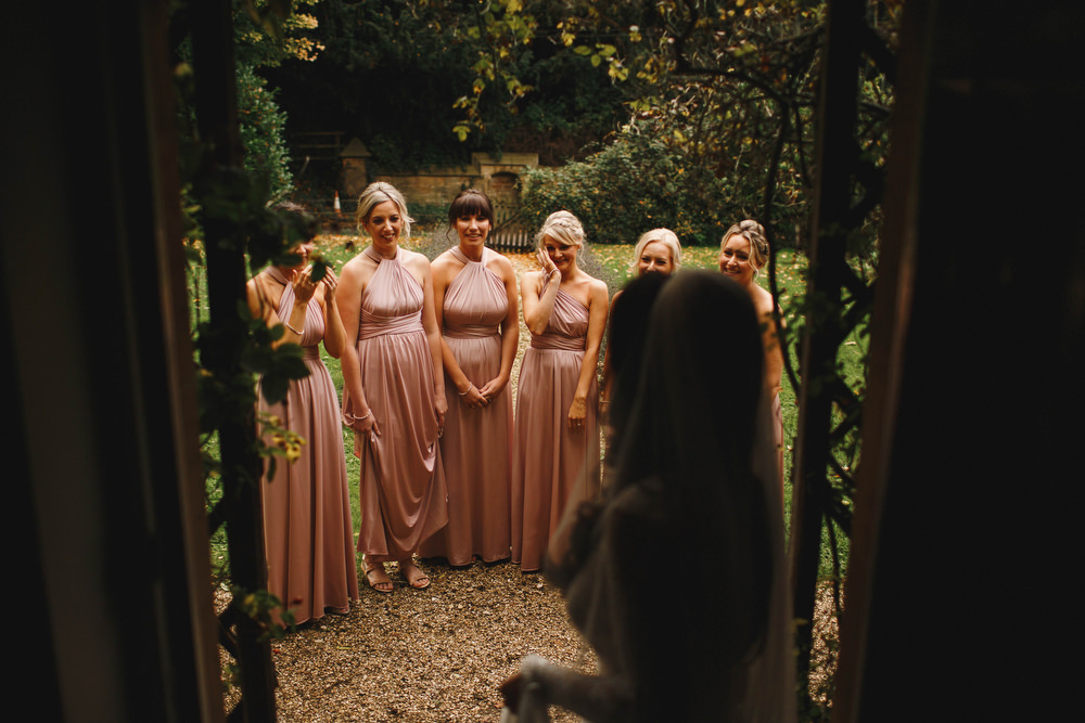 Cotswolds Royal Castle Summer Autumn Traditional Classic Elegant Bride Veil Pink Bridesmaids First Look   Sudeley Castle Wedding ARJ Photography