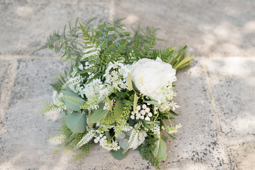 Bride Bridal Bouquet Greenery White Flowers Floral Elegant Chic Modern Wedding Kayleigh Pope Photography
