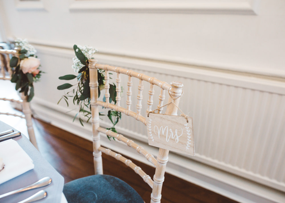 Chair Sign Wooden George Rye Wedding Hollie Carlin Photography