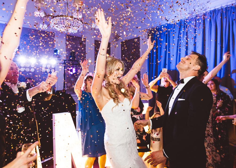 Glitter Confetti Bomb First Dance George Rye Wedding Hollie Carlin Photography