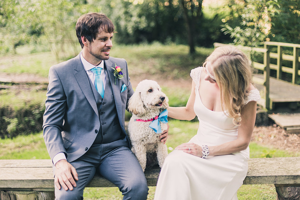 Dog Pet Hothorpe Hall Woodlands Wedding Lucy Long Photography