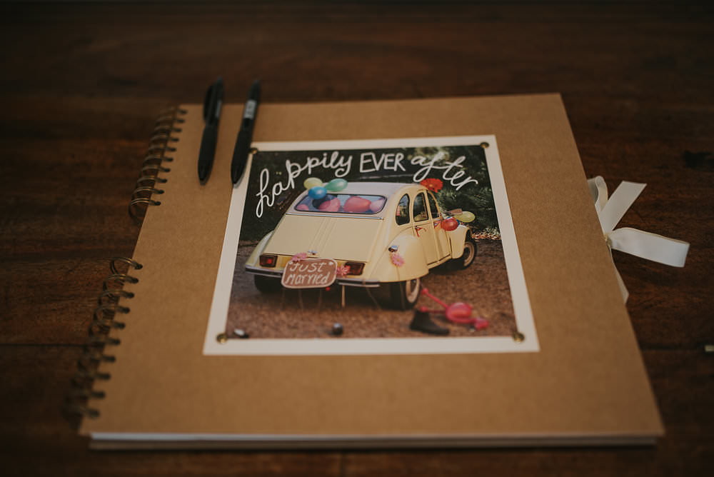 Guest Book Happily After Ever Macdonald Houston Hotel Wedding Martin Venherm Photography