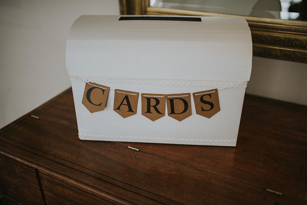 Cards Post Box Brown Paper Bunting Macdonald Houston Hotel Wedding Martin Venherm Photography