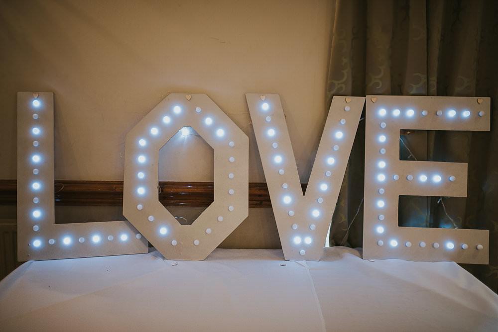 Light Up Love Letters LED Macdonald Houston Hotel Wedding Martin Venherm Photography