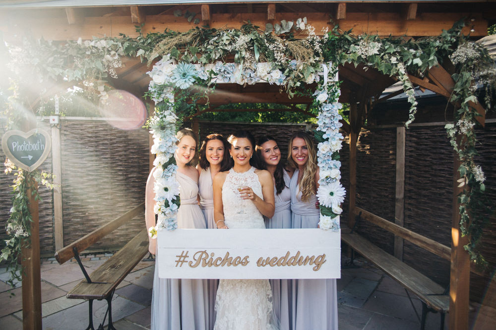 Cut Out Polariod Photo Booth Wray's Barn Whinstone View Wedding Sally T Photography