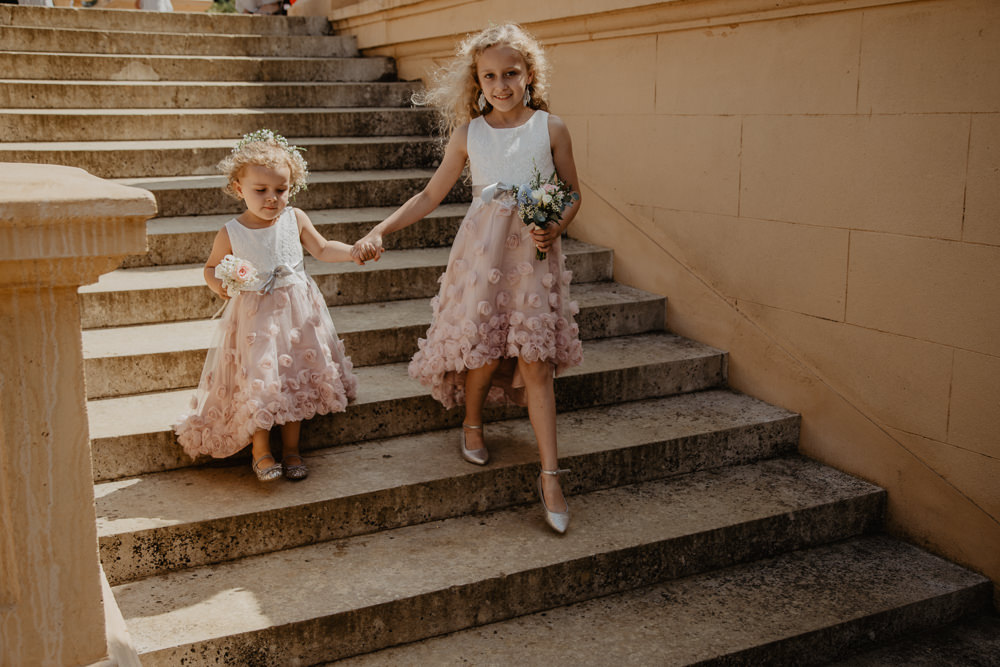 Osborne House Isle of Wight Natural Classic Bride Blush Pastel Bouquets Pink Monsoon Flower Girl Dresses | Timeless Royal Inspired Seaside Wedding Holly Cade Photography