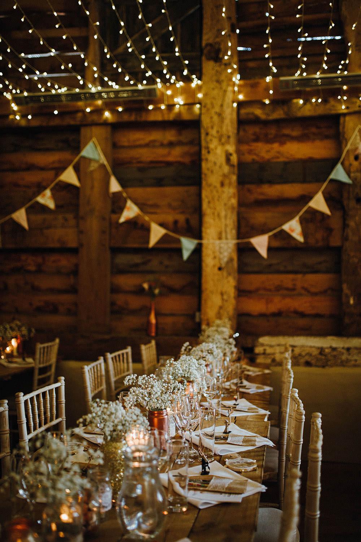 Bunting Decor Pimhill Barn Wedding Shrophire Leah Lombardi Photography