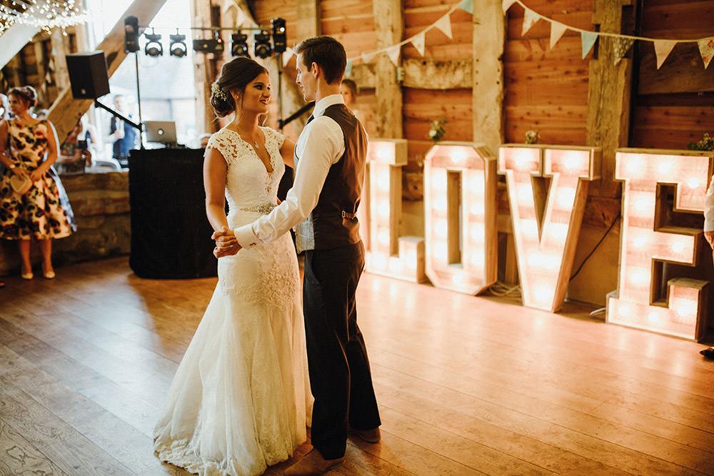 Love Letter Lights Pimhill Barn Wedding Shrophire Leah Lombardi Photography