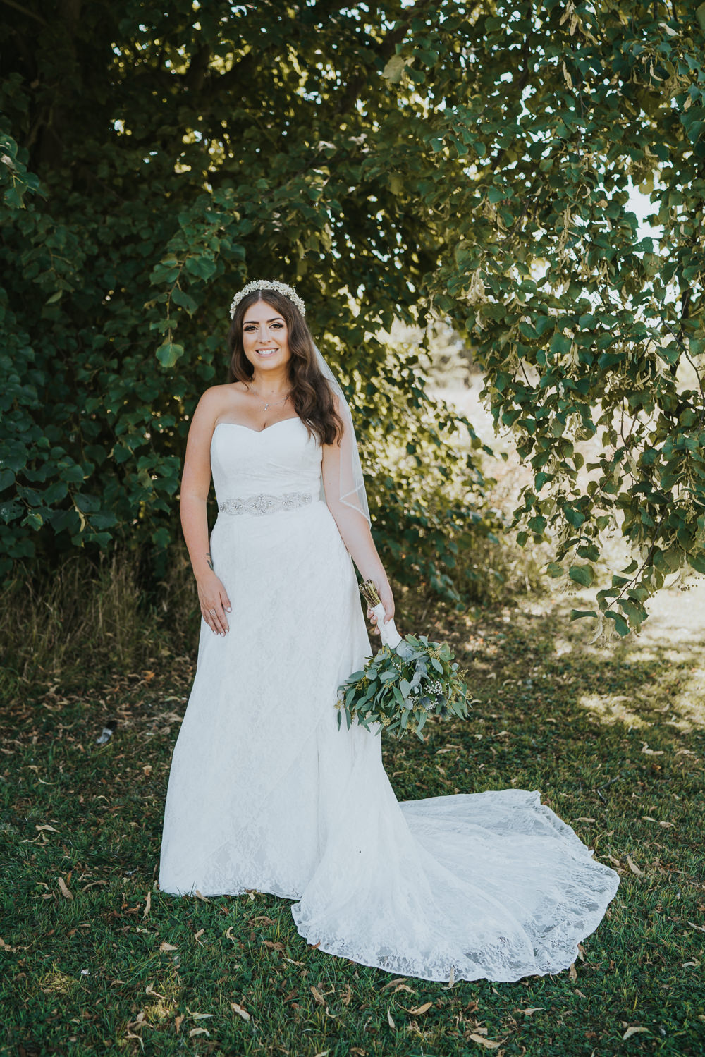 Intimate Outdoor Natural Relaxed Laid Back Summer Bride Greenery Foliage Bouquet | Prested Hall Wedding Grace Elizabeth Photography