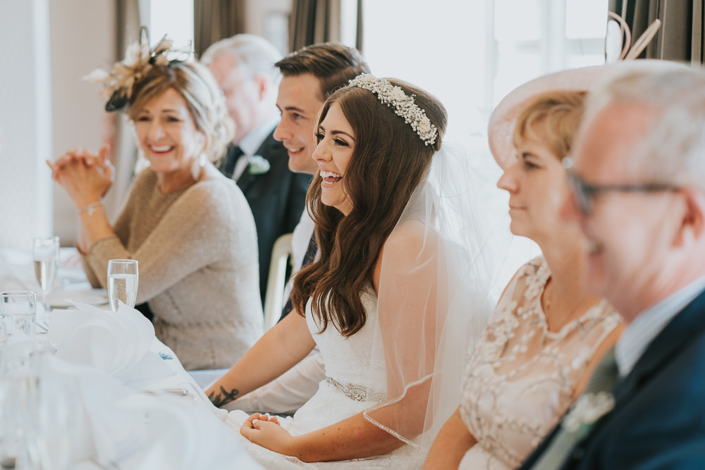 Intimate Outdoor Natural Relaxed Laid Back Summer Reception Dinner Speeches | Prested Hall Wedding Grace Elizabeth Photography
