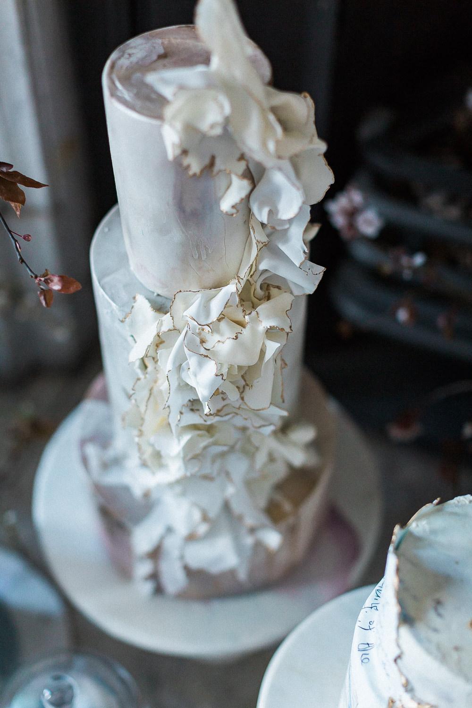 Modern Dance Ballet Inspired Editorial Fine Art Somerley House Dusty Pink Kate Burt Cakes | Romantic Soft Wedding Ideas Siobhan H Photography