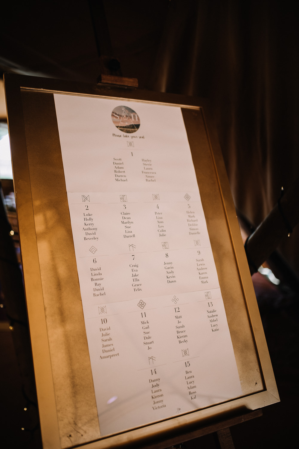 Festival Seating Plan Table Chart Alcott Weddings Oobaloos Photography