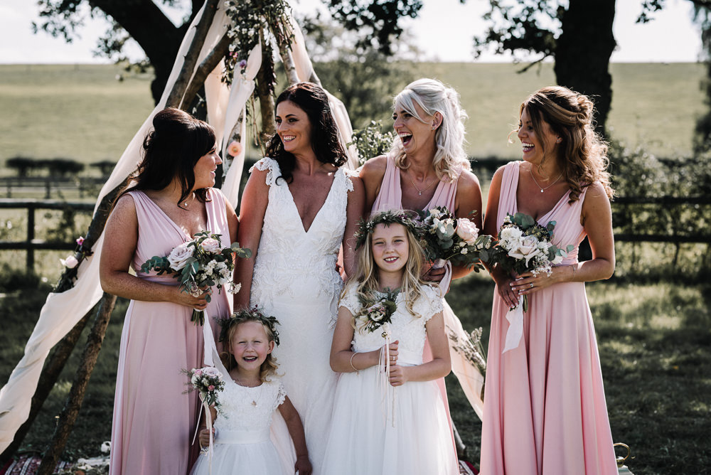 Pink Bridesmaid Dress Dresses Alcott Weddings Oobaloos Photography