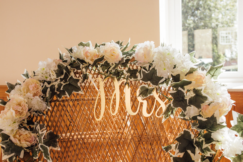 Floral Arch Garland Mrs Flowers White Ivy Celestial Country Wedding Florence Fox Photography