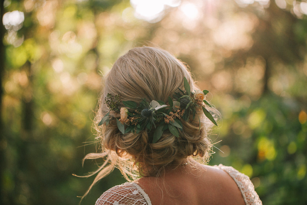 Bride Bridal Hair Style Up Do Flowers Crab Lobster Wedding A Little Picture