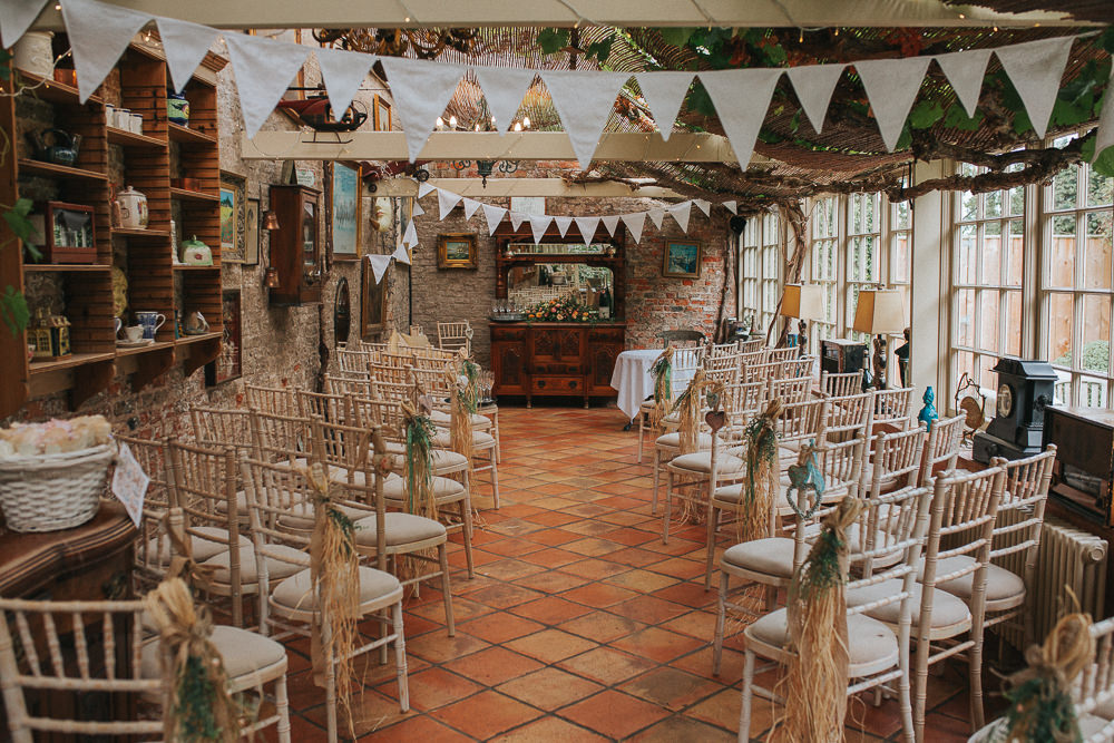 Ceremony Room Bunting Aisle Decor Crab Lobster Wedding A Little Picture