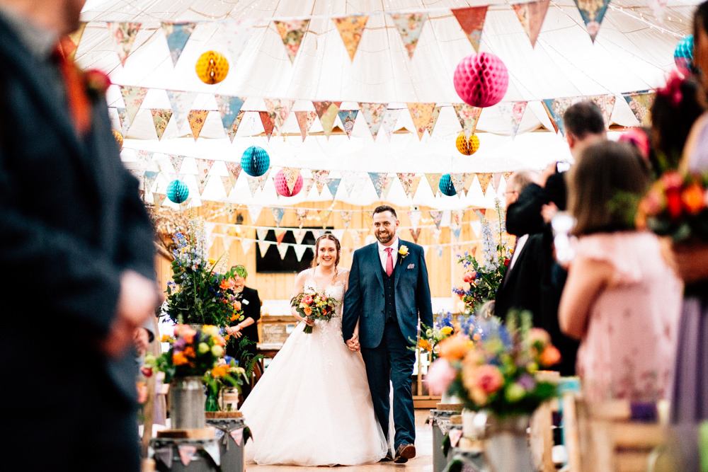 Bride Bridal Lace Tulle Full Skirt Sweetheart Illusion Navy Suit Pink Tie Groom Fun Quirky Colourful Wedding Fairclough Studios