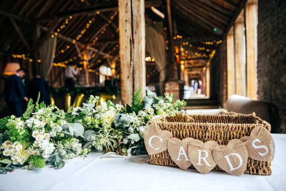 Card Hamper Basket Long Barn Wedding Three Flowers Photography