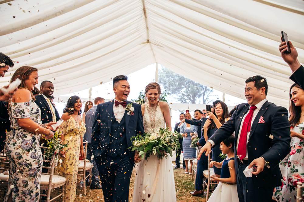 Confetti Throw Long Barn Wedding Three Flowers Photography