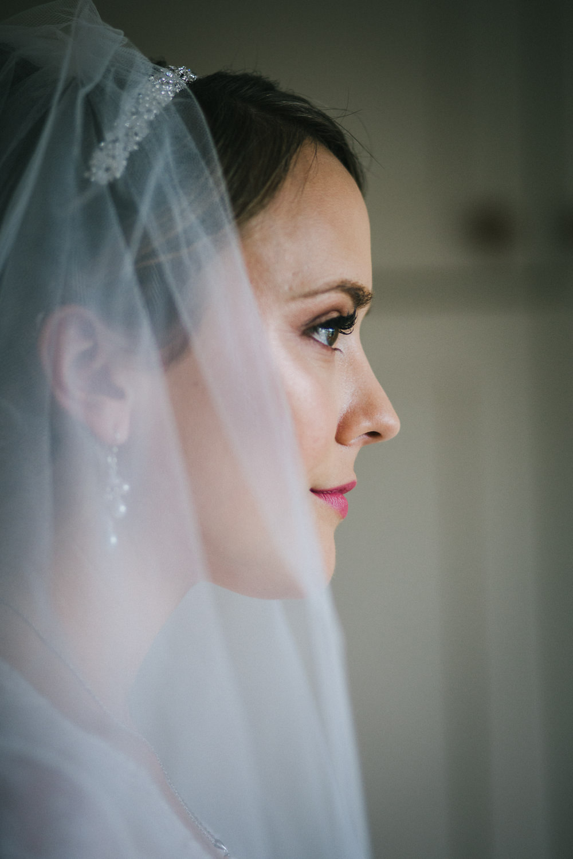 Bride Bridal Make Up Veil Tipi Garden Wedding Amy Jordison Photography