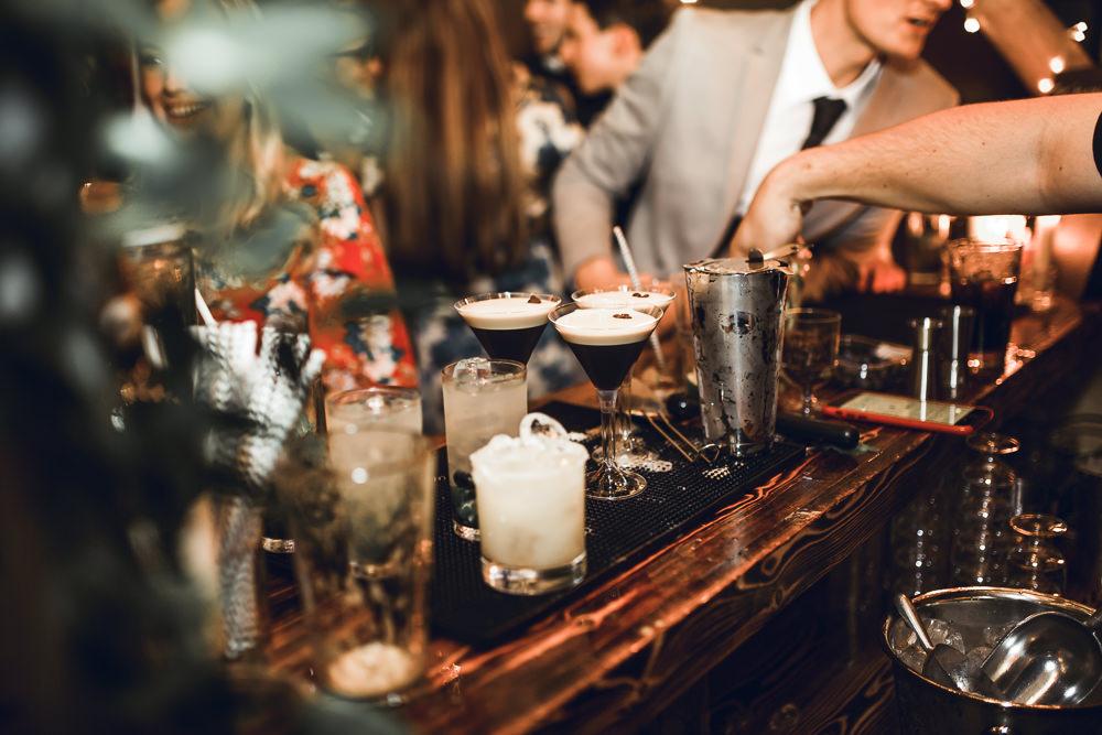 Bar Cocktails Tipi Garden Wedding Amy Jordison Photography