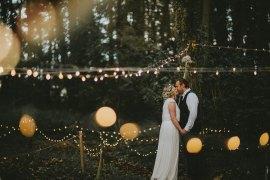 Woodland Outdoor Fairy Lights Festoon Lighting Applewood Wedding Flawless Photography