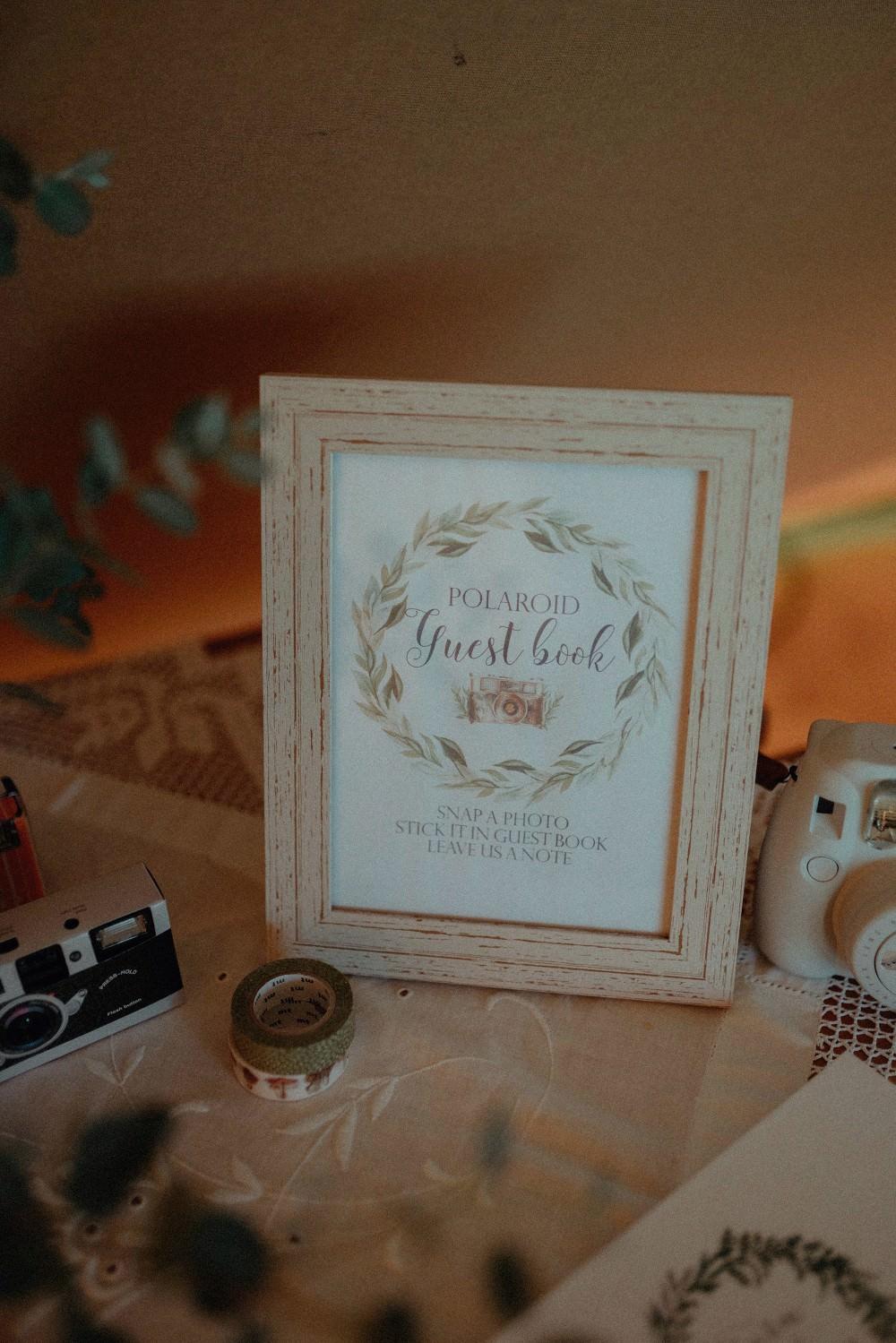 Guest Book Sign Autumn Dark Red Wedding Belle Art Photography