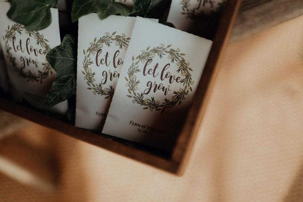 Wild Flower Seed Favours Autumn Dark Red Wedding Belle Art Photography