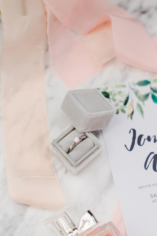 Grey Velvet Ring Box Engagement Band Chiltern Open Air Museum Wedding Terri & Lori Fine Art Photography