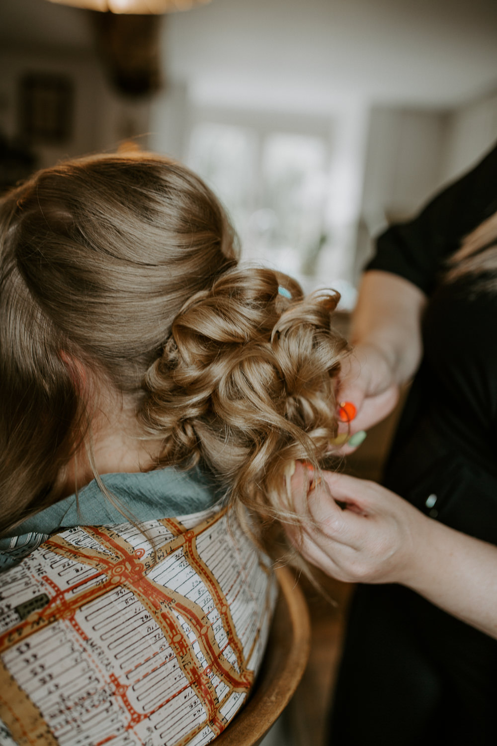 Bride Bridal Hair Up Do Curls City Cathedral Country Marquee Wedding Siobhan Beales Photography