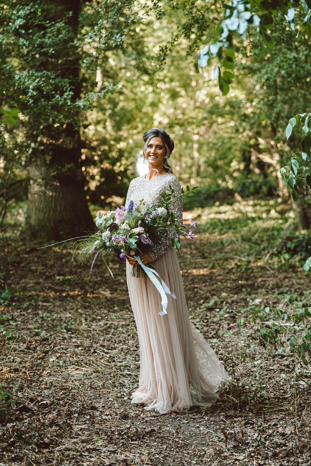 Dress Gown Bride Bridal Gold Sequin Tulle Sleeves Ethereal Magical Golden Hour Wedding Ideas Dhw Photography