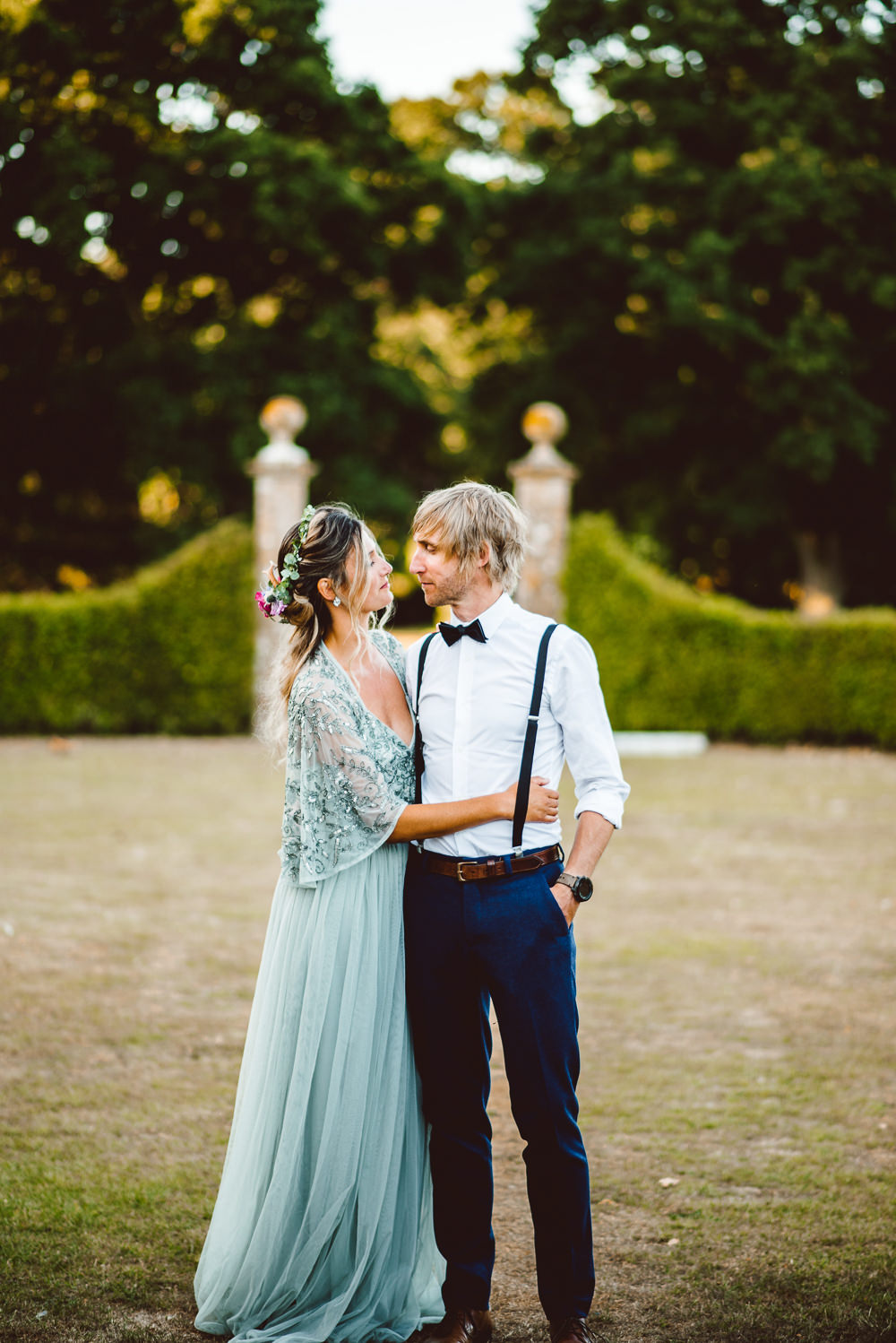 Bow Tie Braces Groom Style Trousers Ethereal Magical Golden Hour Wedding Ideas Dhw Photography