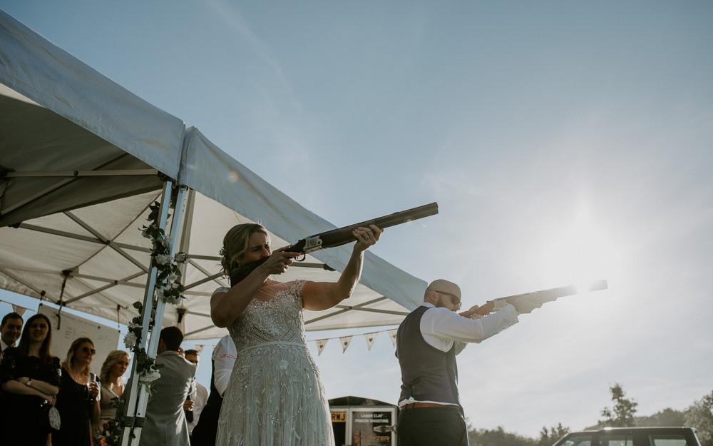 LLaser Clay Shooting Barn Upcote Wedding Siobhan Beales Photography