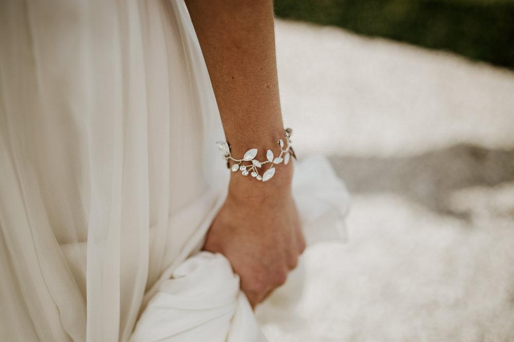 Bride Bridal Bracelet Blue Rich Romantic Wedding Ideas Daze of Glory Photography Catherine Spiller Photography