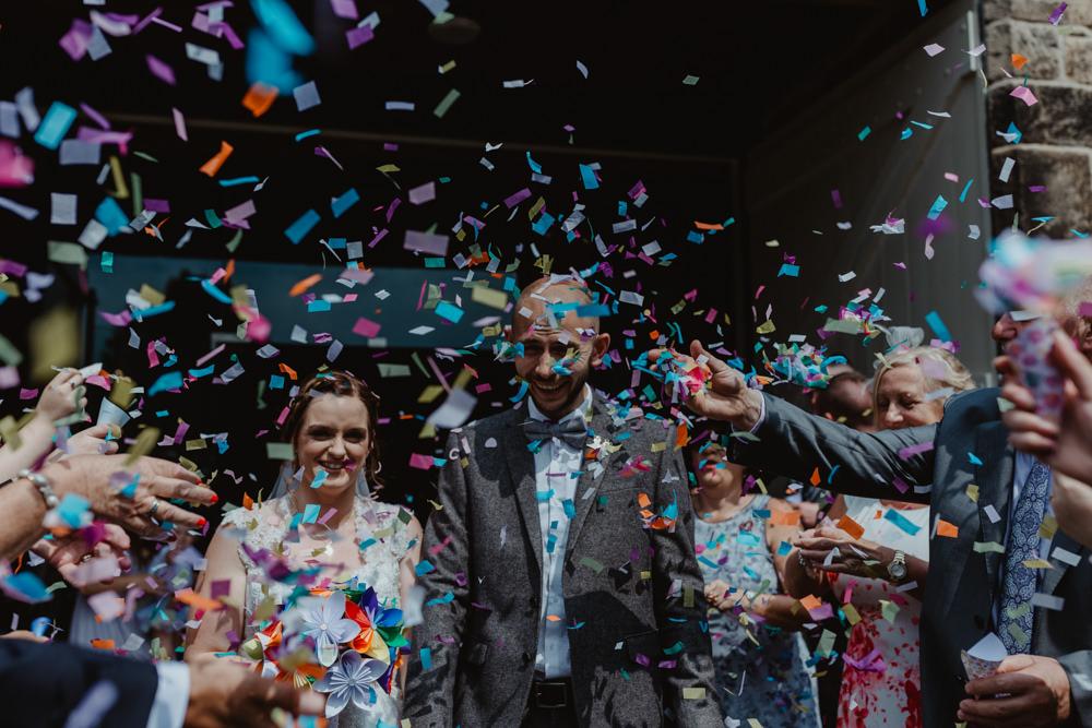 Confetti Throw Cute Rainbow Wedding Stevie Jay Photography