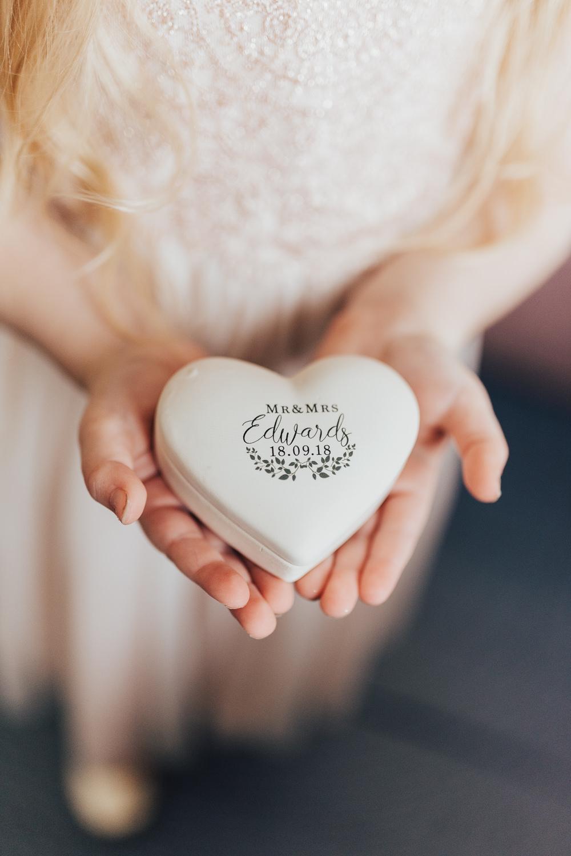 Heart Ring Box Ceremony Beacon House Wedding Elopement Rebecca Carpenter Photography
